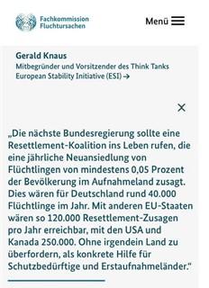 Zitat Gerald Knaus