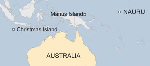 Map of Manus Island